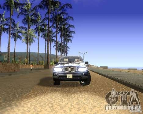 BMW X5 4.8 IS для GTA San Andreas вид сзади слева