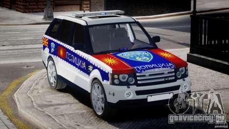 Range Rover Macedonian Police [ELS] для GTA 4 вид изнутри
