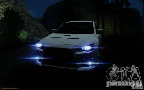 Mitsubishi Lancer Evolution X Tunable для GTA San Andreas вид снизу