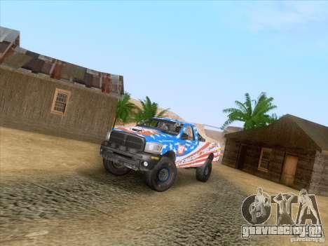 Dodge Ram Trophy Truck для GTA San Andreas вид изнутри