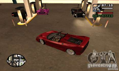 Ferrari F50 Cabrio для GTA San Andreas вид сзади слева