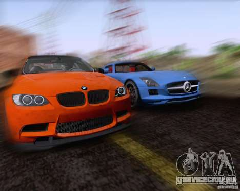 BMW M3 GT-S Fixed Edition для GTA San Andreas вид изнутри