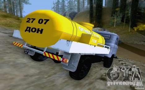 ГАЗ 66 ГСМ для GTA San Andreas вид справа