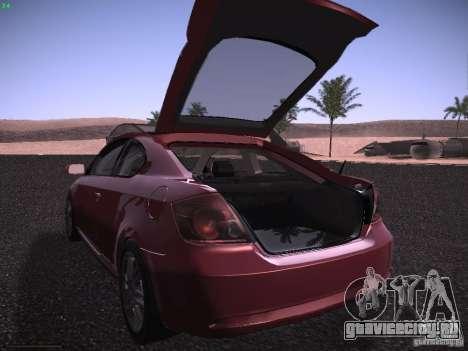 Scion tC для GTA San Andreas вид сверху