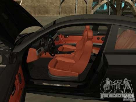 BMW M3 E92 Tunable для GTA San Andreas вид сзади