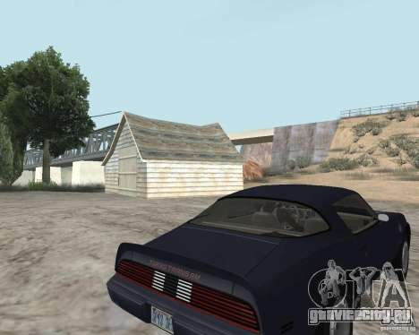 Pontiac Firebird Trans Am Turbo 1980 для GTA San Andreas вид сзади слева