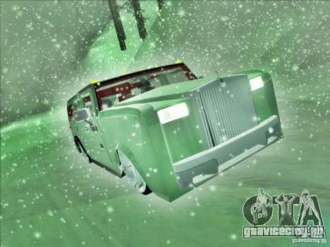 Hummer H2 Phantom для GTA San Andreas вид справа