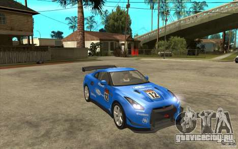 Nissan GT R Shift 2 Edition для GTA San Andreas вид изнутри