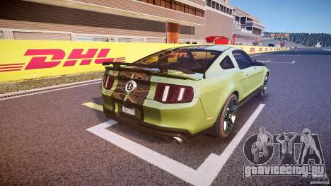 Ford Mustang Shelby GT500 2010 (Final) для GTA 4 вид сверху