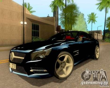 Mercedes-Benz SL350 2013 для GTA San Andreas вид изнутри