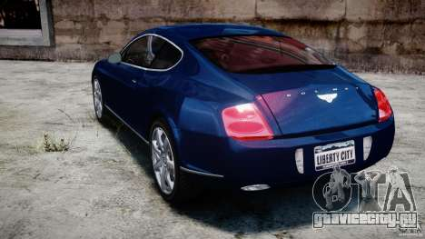 Bentley Continental GT v2.0 для GTA 4 вид сзади слева