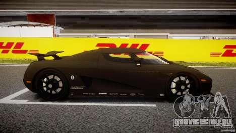 Koenigsegg CCXR Edition для GTA 4 вид изнутри