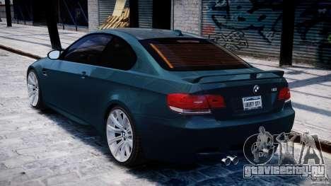 BMW M3 E92 stock для GTA 4 вид справа