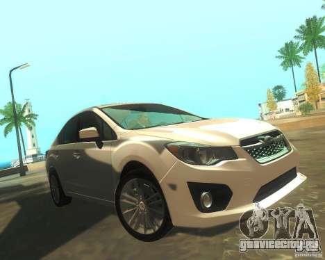 Subaru Impreza Sedan 2012 для GTA San Andreas вид слева