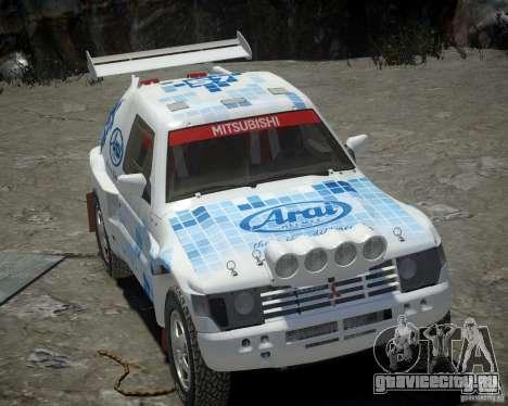 Mitsubishi Pajero Proto Dakar EK86 винил 3 для GTA 4 вид сбоку