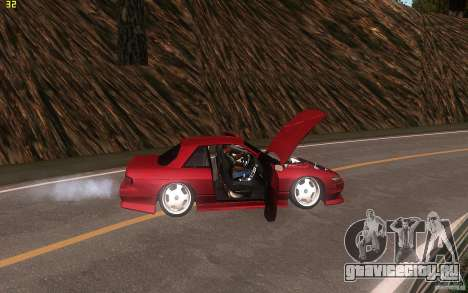 Nissan Silvia S13 Clean Edition для GTA San Andreas вид изнутри