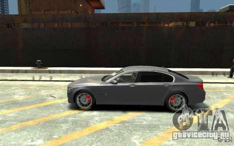 BMW ActiveHybrid 7 2010 для GTA 4 вид слева