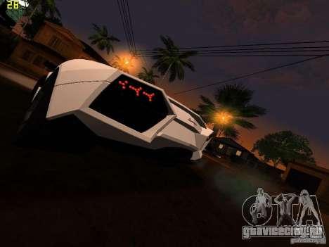 Lamborghini Reventon Roadster для GTA San Andreas вид сзади слева