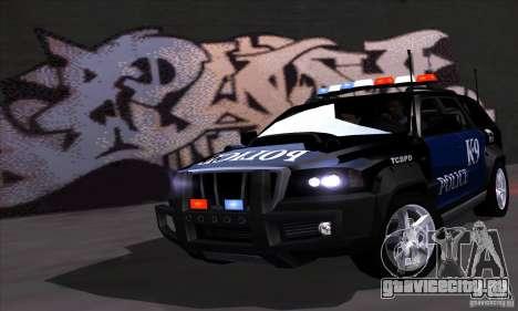 NFS Undercover Police SUV для GTA San Andreas