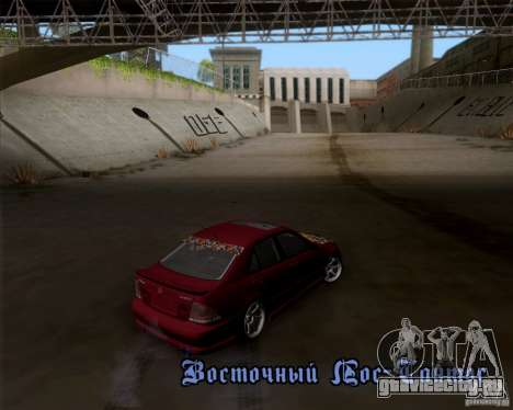 Lexus IS300 Hella Flush для GTA San Andreas вид сзади