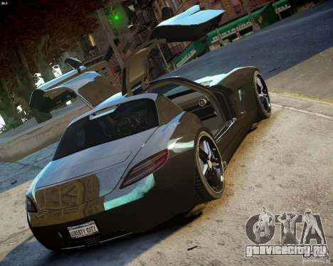 Mercedes SLS Extreme для GTA 4 вид справа