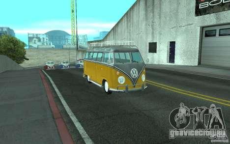 Volkswagen Transporter T1 SAMBAQ CAMPERVAN для GTA San Andreas вид справа