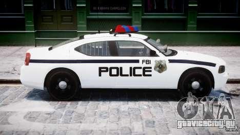 Dodge Charger FBI Police для GTA 4 вид сбоку