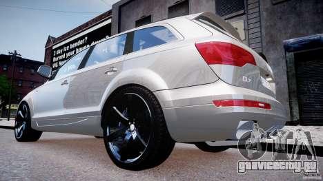 Audi Q7 LED Edit 2009 для GTA 4 вид справа