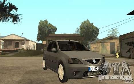 Dacia Logan Prestige 1.6 16v для GTA San Andreas вид сзади