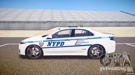 Honda Accord Type R NYPD (City Patrol 1090) ELS для GTA 4 вид слева