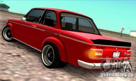 BMW 2002 Turbo для GTA San Andreas вид сзади