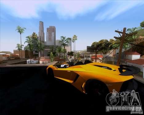 Lamborghini Aventador J TT Black Revel для GTA San Andreas вид слева
