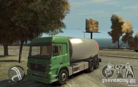 Mercedes Benz Actros Gas Tanker для GTA 4 вид изнутри