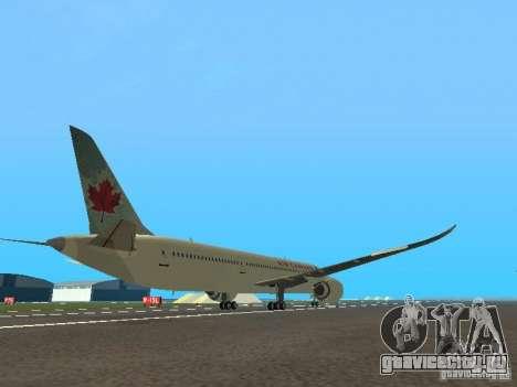 Boeing 787 Dreamliner Air Canada для GTA San Andreas вид справа