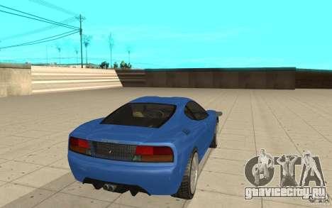 Turismo из GTA 4 для GTA San Andreas вид сзади слева