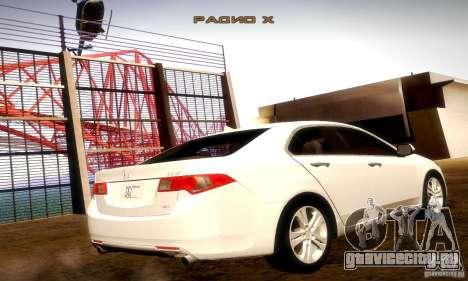 Acura TSX V6 для GTA San Andreas вид сзади слева