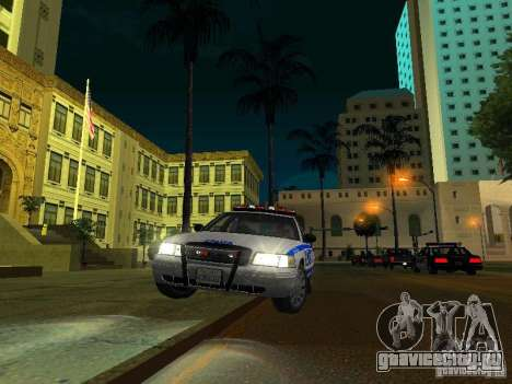 Ford Crown Victoria 2009 New York Police для GTA San Andreas вид сверху