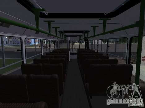 ЛиАЗ 5256 Пригородный для GTA San Andreas вид изнутри