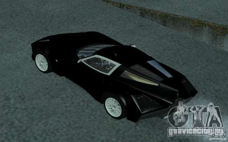 Spada Codatronca TS Concept 2008 для GTA San Andreas вид изнутри