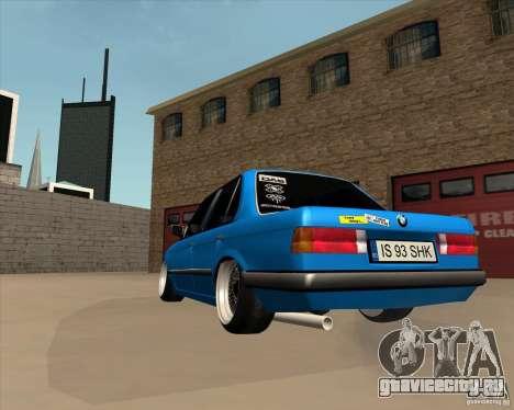BMW E30 325e Duscchen для GTA San Andreas вид сзади слева