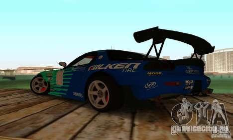 Mazda RX7 Falken edition для GTA San Andreas вид сзади слева
