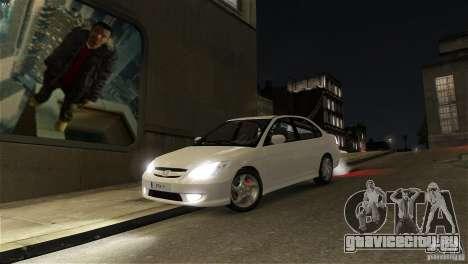 Honda Civic V-Tec для GTA 4 вид сзади
