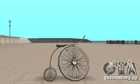 Penny-Farthing Ordinary Bicycle для GTA San Andreas вид сзади слева