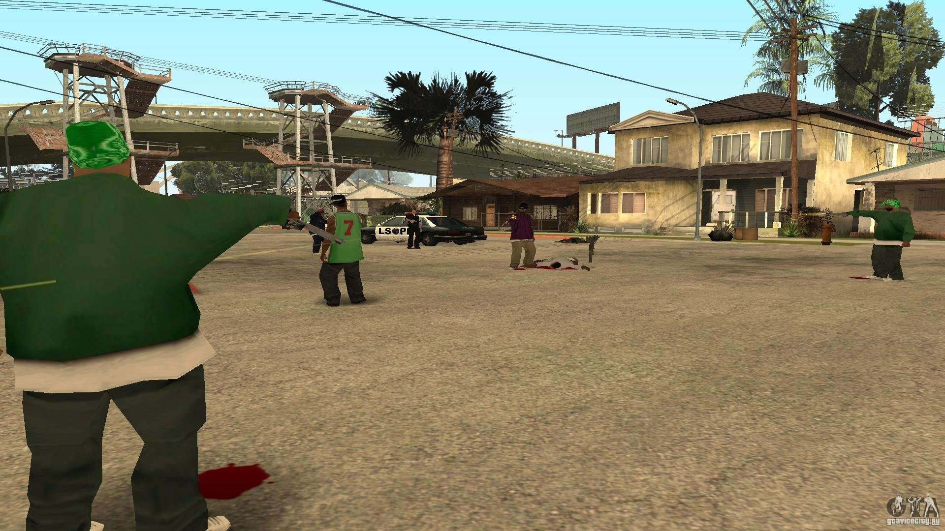 Grove Street            Ballas        GTA San Andreas    Gta San Andreas Ballas Vs Grove Street