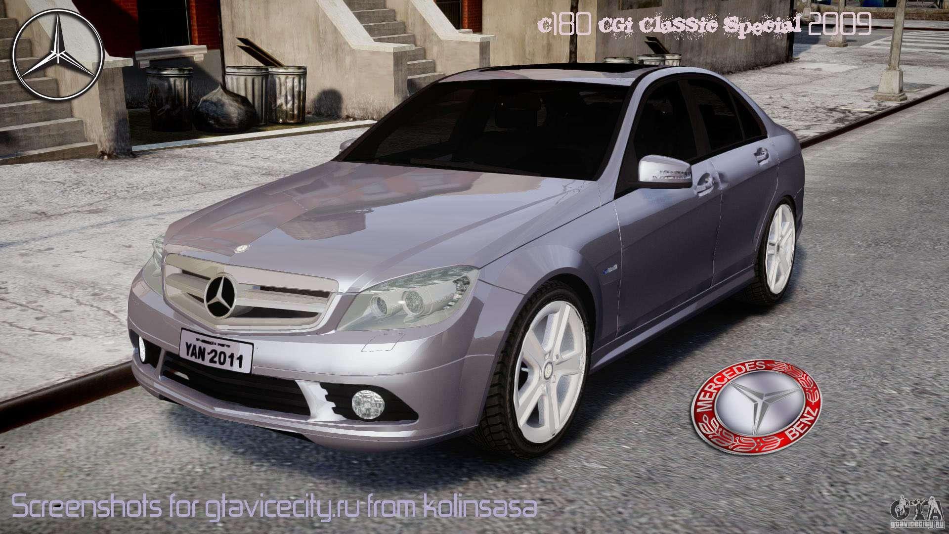 Mercedes Benz C180 Cgi Classic Special 2009 для Gta 4