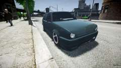 Volkswagen Golf 2 Low is a Life Style для GTA 4