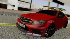 Mercedes Benz C63 AMG Black Series 2012 для GTA San Andreas