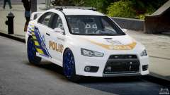 Mitsubishi Evolution X Police Car [ELS]