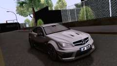 Mercedes-Benz C63 AMG Coupe Black Series для GTA San Andreas