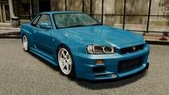 Nissan Skyline R34 2002 v1.1 для GTA 4